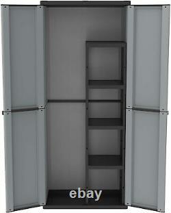 Balai En Plastique De Grande Taille Armoire Étagères En Plein Air Jardin Garage Box De Stockage Utilitaire