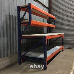 Banc De Travail Industriel Lourd Avec Étagères -1800mm X 900mm -atelier/ Garage