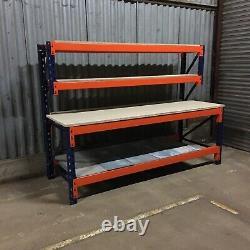 Banc De Travail Industriel Lourd Avec Étagères -1800mm X 900mm -atelier/garage
