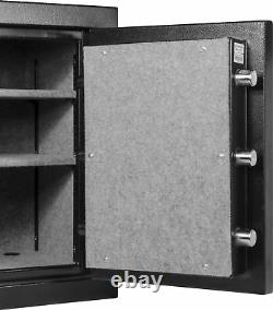 Barska High Duty 2.6 Cubic Feet Fireproof Vault Safe, 2 Étagères, Ax13102