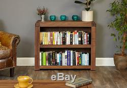 Baumhaus Shiro Bibliothèque Basse En Noyer Massif Livraison Gratuite Pas D'assemblage
