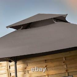Bbq Grill Gazebo Tente Cadre En Acier Avec Étagères Latérales Et Ventilation