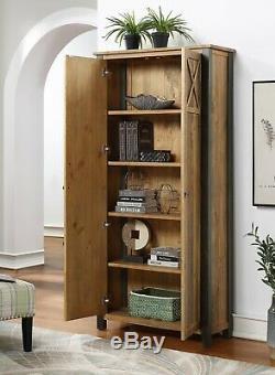 Bibliothèque Industrielle Régénérées Unité De Stockage Cabinet Cadre En Acier Élégance Urbaine
