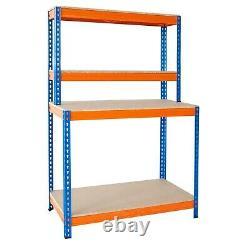 Boîte À Outils Banc De Travail Garage Table Heavy Duty Workshop Rangement Étagères Boltless