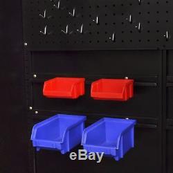 Boîte À Outils En Acier Résistante De Coffre De Stockage D'atelier D'armoire À Outils Avec Étagères Et Porte