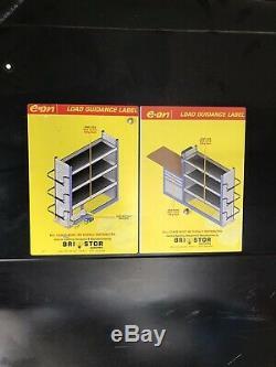Bristor Van Racking Heavy Duty Électricien Métal Plombiers Vw T5 Étagères Tiroirs