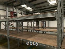 Cinq 4 Bay Heavy Duty Longspan Racking Avec 2 Niveaux 2.8m (l) X 2.7m (h)