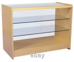Counters Retail Shop Display Étagère En Verre De Cabinet Showcase Poids Lourd Prix De Vente Conseillé £290