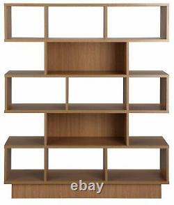 Cubes D'habitat 5 Effet De Chêne De Bibliothèque De Niveau Large