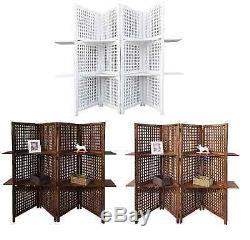 Écran 3 Panneaux À 4 Panneaux, Écran Indien Robuste, Séparateur De Pièce De Bibliothèque À 2 Tablettes