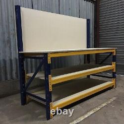 Établi Robuste Avec Étagères Et Backboard 2100mm Large X 750mm De Profondeur