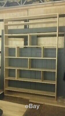 Étagère Industrielle De Bibliothèque D'échafaudage Récupérée À La Main De H2.2m X W1.6m