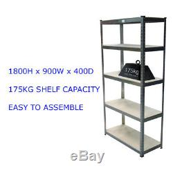 Étagère Rayonnage Emboîtable 5 Tier Galvanised175kg Heavy Duty Stockage