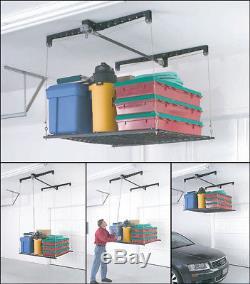 Étagère Résistante Accrochante De Plafond De Garage D'ascenseur De Câble De Support De Stockage Réglable