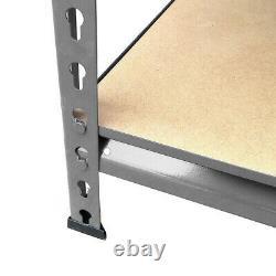 Étagères À Rivets Gris De 5 Niveaux Sans Boulons (150 X 70 X 30 Cm)