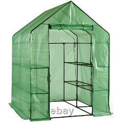 Faboer Walk In Garden Greenhouse Avec Étagères Polytunnel Steeple Removable Cover