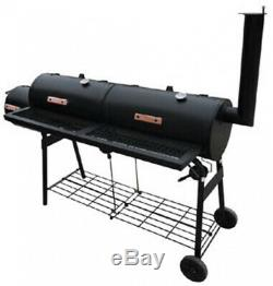 Fumoir De Barbecue De Style Américain Avec 2 Chambres Fumeur, 2 Grilles, 2 Étagères Très Résistant