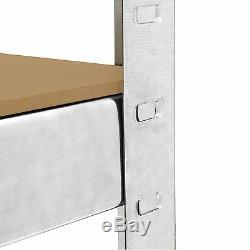 Galvanisées 4 Étagères 5tier Garage Stockage / Racking / Étagères Renforcés 150kg Udl