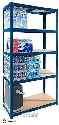 Garage Étagère Bleu 5 Niveau Extra Robuste Plateau De Montage En Rack