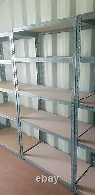 Garage Racking 8x 5 Niveaux Étagères De Rangement Boltless Plate-forme En Métal Lourd