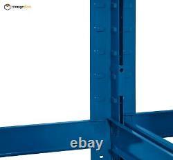 Garage Shelving Unit Blue 5 Tier Extra Heavy-duty 180x90x45cm Étagère Racking