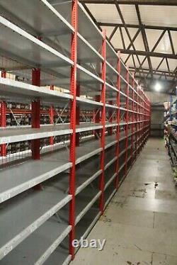 Grand Job Lot D'occasion Heavy Duty Emboîtable Rayonnage Racking Étagères En Acier