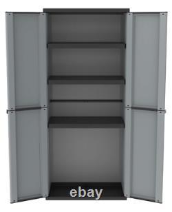 Grande Armoire En Plastique Rangement Jardin Extérieur 3 Étagères Utility Cabinet Box