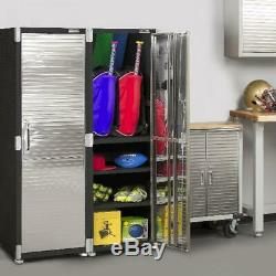 Heavy Duty Armoire De Rangement Grand Garage Boîte À Outils Atelier Organisateur Locker Shelf