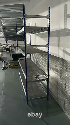 Heavy Duty Boltless Single Bay Hilo Rackplan Racking Longspan 400kg 2.4m X 0.6m