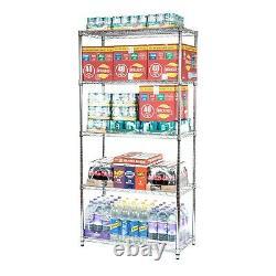 Heavy Duty Chrome Wire 5 Tier Shelving Unit Kitchen/office/retail 500kg Par Unité