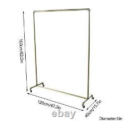 Heavy Duty Clothes Rail Rack Garment Hanging Display Stand Storage Tablette Gold Uk