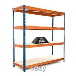 Heavy Duty Étagères / Racking Bleu Et Orange 4 Niveaux 1800mmh X 1800mmw X 600d