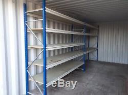 Heavy Duty Garage Étagères / Racking, Chaque Baie 2,4m De Long, 2,2 M De Haut 600mm Profond
