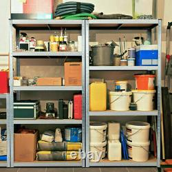 Heavy Duty Garage Racking Storage Shelving Units Boltless Metal Shelves 5tier Royaume-uni