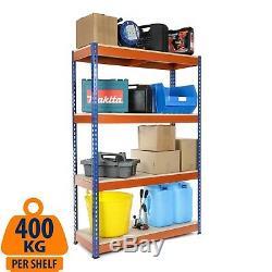 Heavy Duty Garage Rayonnage Racking Bleu Et Orange 400kg Udl