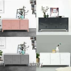 Heavy Duty Métal Cabinet 3 Porte D'armoire Organiseur Console Stand Avec 2 Étagères