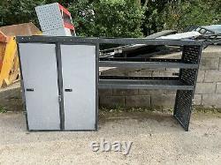 Heavy Duty Metal Van Shelving Racking 2 Cubards