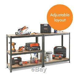 Industriel 4/5 Niveau En Plastique / Métal Étagères Heavy Duty Racking Storage Unit Garage
