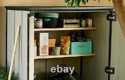 Keter High Plus Magasin Extérieur De Stockage Shed Stockage En Plastique Jardin Avec 2 Étagères