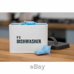 Lave-vaisselle Boîte De Rangement Tablette En Métal Blanchisserie Lavage Cuisine Conteneur Boîte De Poudre