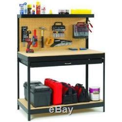 Le Bureau En Acier Résistant De Garage Extérieur En Acier Noir Rayonne La Table D'organisateur D'outils