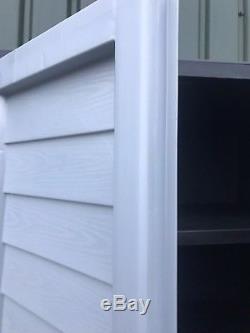 Le Coffret De Hangar De Stockage En Plastique De Stockage De Starplast 6ft Étagère Des Outils De Garage De Jardin