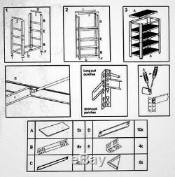 Le Rayonnage En Métal Résistant 1 De Baie Met En Rack L'étagère De Rangement De Garage De Niveau 5 De Garage