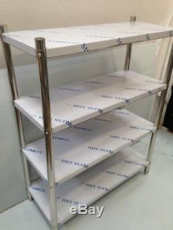Le Stockage Commercial D'étagère D'unité De Rayonnage D'acier Inoxydable Étire La Cuisine Résistante