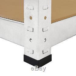 Le Stockage Galvanisé De Stockage D'unité De Garage D'étagères De Coin Défilant Les Étagères Résistantes 175kg