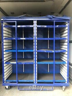 Le Stockage Portatif De Cage De Chariot À Rayonnage Résistant À Baguettes Roule Le Grand Tiroir