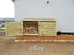 Log Shed Magasin De Jardin En Bois 4ft (w-227cm, H-126cm, D-81cm) Vente Verte Ou Brune
