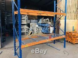 Longue 2tonne Heavy Duty Palettisation 1 Bay Poutres 3m X 90cm Profond Avec Filet