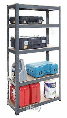 Lot De 3 Tablettes De Rangement Heavy Duty Gris Garage Magasin Entrepôt Racking Rayonnages
