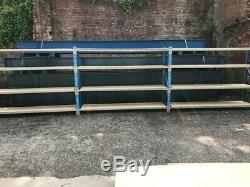 Magasinage Occasion Rayonnage / Racking, Robuste Longspan, 3 Baies Avec Des Planches Jointes
